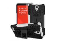 Противоударный усиленный ударопрочный фирменный чехол-бампер-пенал для Xiaomi Redmi Note 1 /Hongmi Note белый