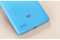 Родная оригинальная задняя крышка-панель которая шла в комплекте для Xiaomi Redmi Note 1 /Hongmi Note голубая