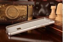 Фирменная металлическая задняя панель-крышка-накладка из тончайшего облегченного авиационного алюминия для Xiaomi Mi Note/Mi Note Pro серебристая
