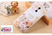 """Фирменная ультра-тонкая силиконовая задняя панель-крышка-накладка для Xiaomi Redmi Pro 5.5"""" с 3D объёмным рисунком """"тематика королевские Розы"""""""