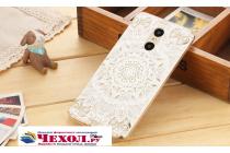 """Фирменная задняя панель-чехол-накладка из прозрачного 3D  силикона с объёмным рисунком для Xiaomi Redmi Pro 5.5"""" тематика """"тематика Эклектические Узоры"""" которая огибает логотип чтобы была видна марка телефона"""