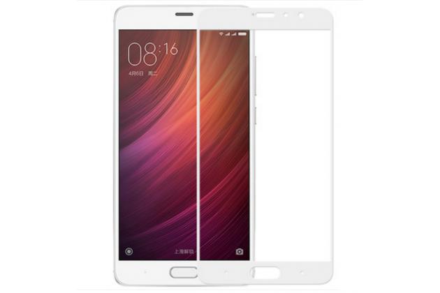 """Фирменное 3D защитное изогнутое стекло с закругленными изогнутыми краями которое полностью закрывает экран / дисплей по краям с олеофобным покрытием для Xiaomi Redmi Pro 5.5"""""""