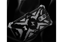 """Противоударный металлический чехол-бампер из цельного куска металла с усиленной защитой углов и необычным экстремальным дизайном для Xiaomi Redmi Pro 5.5"""" черного цвета"""