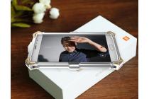 """Противоударный металлический чехол-бампер из цельного куска металла с усиленной защитой углов и необычным экстремальным дизайном для Xiaomi Redmi Pro 5.5"""" серебристого цвета"""