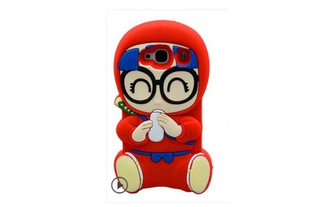 """Фирменная задняя панель-чехол-накладка с объёмным 3D изображением для Xiaomi Hongmi 2 2A/ Redmi 2 / Redmi 2 Pro 4.7"""" """"тематика забавный малыш"""" красный"""