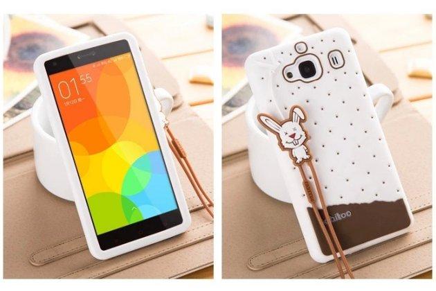 """Фирменная необычная уникальная полимерная мягкая задняя панель-чехол-накладка для Xiaomi Hongmi 2 2A/ Redmi 2 / Redmi 2 Pro 4.7"""" """"тематика Андроид в Белом Шоколаде"""""""
