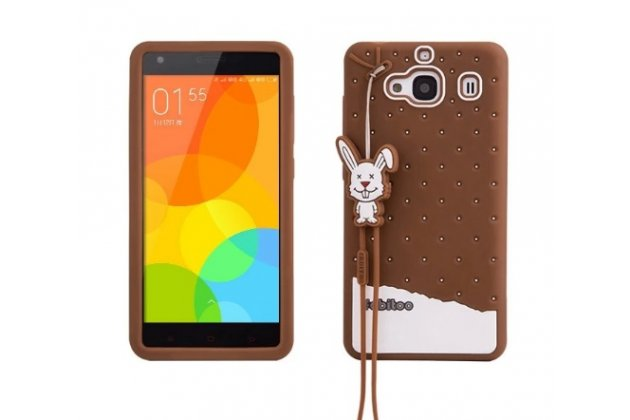 """Фирменная необычная уникальная полимерная мягкая задняя панель-чехол-накладка для Xiaomi Hongmi 2 2A/ Redmi 2 / Redmi 2 Pro 4.7"""" """"тематика Андроид в тёмном Шоколаде"""""""