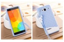 """Фирменная необычная уникальная полимерная мягкая задняя панель-чехол-накладка для Xiaomi Hongmi 2 2A/ Redmi 2 / Redmi 2 Pro 4.7"""" """"тематика Андроид в черничном шоколаде"""""""