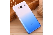 """Фирменная из тонкого и лёгкого пластика задняя панель-чехол-накладка для Xiaomi Hongmi 2 2A/ Redmi 2 / Redmi 2 Pro 4.7"""" прозрачная с эффектом дождя"""