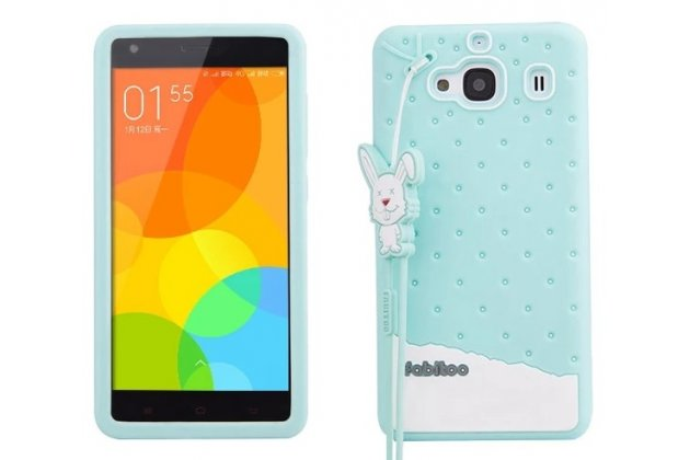 """Фирменная необычная уникальная полимерная мягкая задняя панель-чехол-накладка для Xiaomi Hongmi 2 2A/ Redmi 2 / Redmi 2 Pro 4.7"""" """"тематика Андроид в мятном шоколаде"""""""