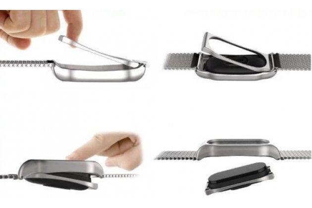 Фирменный стальной сменный цветной ремешок из нержавеющей стали для спортивного браслета Xiaomi Mi Band 2