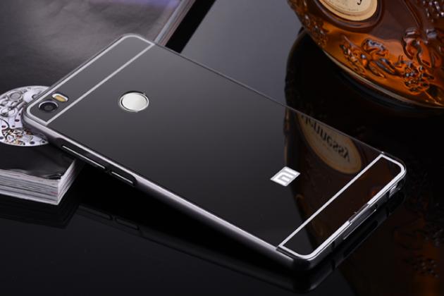 """Фирменная металлическая задняя панель-крышка-накладка из тончайшего облегченного авиационного алюминия для Xiaomi Mi Max 6.4"""" черная"""