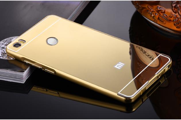 """Фирменная металлическая задняя панель-крышка-накладка из тончайшего облегченного авиационного алюминия для Xiaomi Mi Max 6.4"""" золотая"""