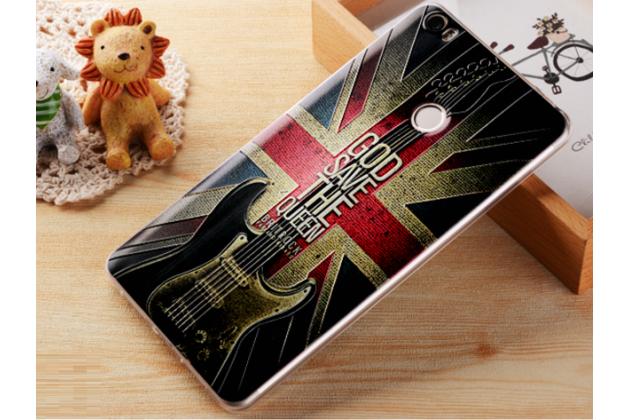 """Фирменная ультра-тонкая силиконовая задняя панель-крышка-накладка  для Xiaomi Mi Max 6.4""""  с 3D объёмным рисунком """"тематика Британский Флаг"""""""