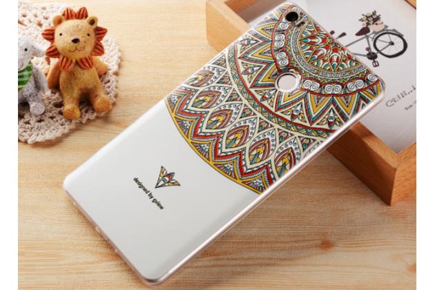"""Фирменная ультра-тонкая силиконовая задняя панель-крышка-накладка  для Xiaomi Mi Max 6.4""""  с 3D объёмным рисунком """"тематика Эклектические Узоры"""""""
