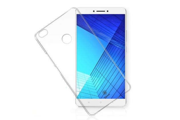 """Фирменная задняя панель-крышка-накладка из тончайшего и прочного пластика для Xiaomi Mi Max 6.4"""" прозрачная"""