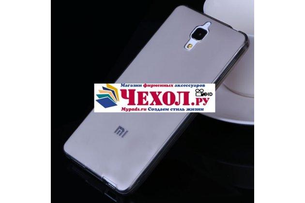 Фирменная ультра-тонкая полимерная мягкая задняя панель-чехол-накладка для Xiaomi Mi4 черная