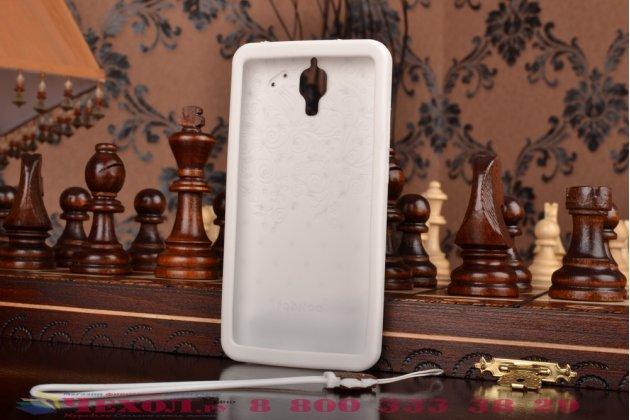 """Фирменная необычная уникальная полимерная мягкая задняя панель-чехол-накладка для Xiaomi Mi4 """"тематика Андроид в Белом Шоколаде"""""""