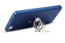 Фирменная задняя панель-крышка-накладка из тончайшего и прочного пластика для Xiaomi Mi6 с нескользящим покрытием синяя