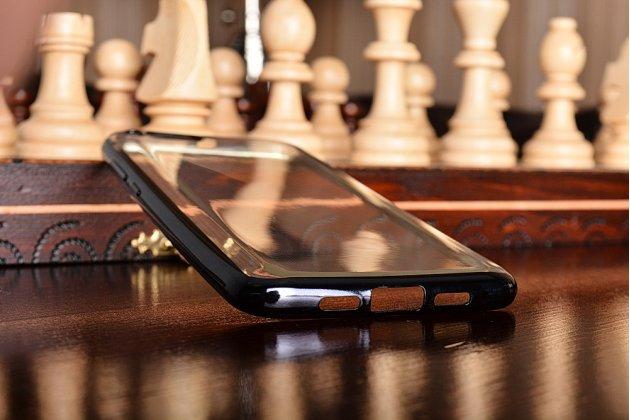 Фирменная ультра-тонкая полимерная из мягкого качественного силикона задняя панель-чехол-накладка для Xiaomi Mi6 прозрачная с черной окаёмкой