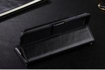Фирменный чехол-книжка  из качественной импортной кожи с застёжкой и мультиподставкой для Xiaomi Mi6 черная