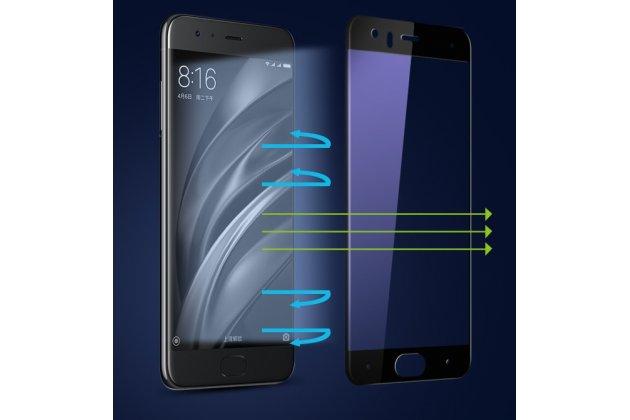Фирменное 3D защитное изогнутое стекло с закругленными изогнутыми краями которое полностью закрывает экран / дисплей по краям с олеофобным покрытием для Xiaomi Mi6