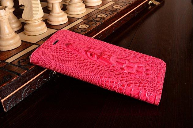 Фирменный роскошный эксклюзивный чехол с объёмным 3D изображением рельефа кожи крокодила розовый для Xiaomi Mi6 . Только в нашем магазине. Количество ограничено