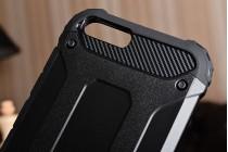Противоударный усиленный ударопрочный фирменный чехол-бампер-пенал для Xiaomi Mi6 черный