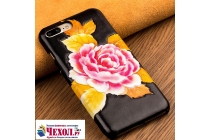 """Фирменная роскошная задняя панель-крышка обтянутая импортной кожей для Xiaomi Mi6 """"тематика Роза"""""""