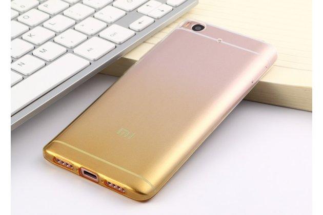 Фирменная ультра-тонкая полимерная из мягкого качественного силикона задняя панель-чехол-накладка для Xiaomi Mi6 прозрачная с эффектом песка