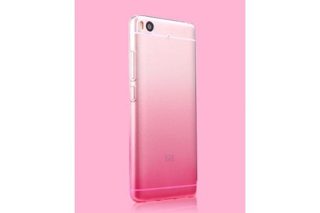 Фирменная ультра-тонкая полимерная из мягкого качественного силикона задняя панель-чехол-накладка для Xiaomi Mi6 прозрачная с эффектом грозы
