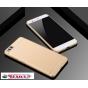 Фирменная задняя панель-крышка-накладка из тончайшего и прочного пластика для Xiaomi Mi6 золотая..