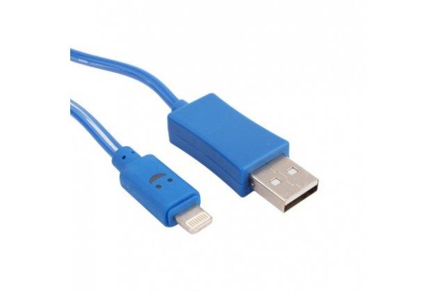 Фирменный оригинальный цветной Data кабель Micro USB со светодиодной индикацией для спортивного браслета Fitbit Charge + гарантия