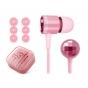 100% ПОДЛИННЫЕ наушники-вкладыши Xiaomi Piston Pink розовые с кристаллами Swarovski  для всех моделей телефоно..