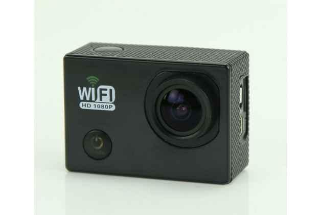 Фирменная оригинальная портативная спортивная WI-FI экшн-камера SJCAM SJ6000  беспроводная черного цвета