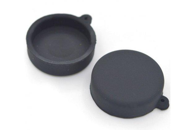 Фирменная защитная крышка-заглушка для объектива-линзы фото-видео-экшн-камеры Xiaomi Yi черная