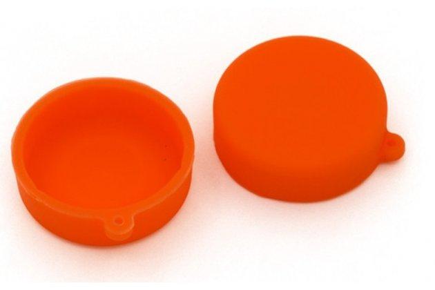 Фирменная защитная крышка-заглушка для объектива-линзы фото-видео-экшн-камеры Xiaomi Yi оранжевая