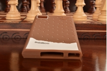 """Фирменная необычная уникальная полимерная мягкая задняя панель-чехол-накладка для Xiaomi MI3 """"тематика Андроид в темном Шоколаде"""""""