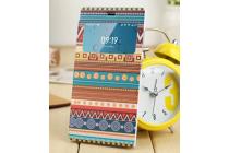 Фирменный чехол-книжка с безумно красивым расписным эклектичным узором на Xiaomi MI3  с окошком для звонков