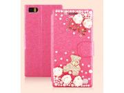 Фирменный чехол-книжка с застежкой украшенная стразами кристалликами и декорированная элементами для Xiaomi MI..
