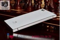 Фирменная металлическая задняя панель-крышка-накладка из тончайшего облегченного авиационного алюминия для Xiaomi MI3 белая