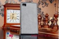 """Фирменный оригинальный вертикальный откидной чехол-флип для Xiaomi MI3 черный кожаный """"Prestige"""" Италия"""