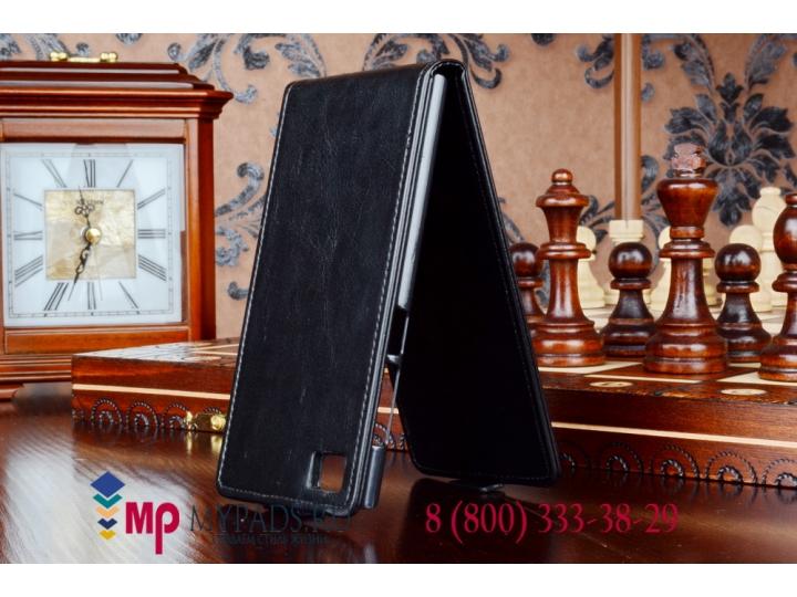 Фирменный оригинальный вертикальный откидной чехол-флип для Xiaomi MI3 черный кожаный