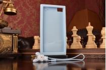 """Фирменная необычная уникальная полимерная мягкая задняя панель-чехол-накладка для Xiaomi MI3 """"тематика Андроид в черничном Шоколаде"""""""