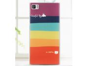 Фирменная необычная из легчайшего и тончайшего пластика задняя панель-чехол-накладка для Xiaomi MI3