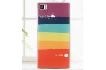 """Фирменная необычная из легчайшего и тончайшего пластика задняя панель-чехол-накладка для Xiaomi MI3 """"тематика Все цвета Радуги"""""""