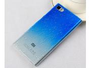Фирменная из тонкого и лёгкого пластика задняя панель-чехол-накладка для Xiaomi Mi3 прозрачная с эффектом дожд..