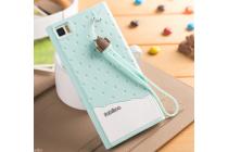 """Фирменная необычная уникальная полимерная мягкая задняя панель-чехол-накладка для Xiaomi MI3 """"тематика Андроид в мятном шоколаде"""""""