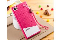 """Фирменная необычная уникальная полимерная мягкая задняя панель-чехол-накладка для Xiaomi MI3 """"тематика Андроид в вишневом шоколаде"""""""