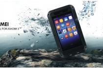 Неубиваемый водостойкий противоударный водонепроницаемый грязестойкий влагозащитный ударопрочный фирменный чехол-бампер для Xiaomi Miu Mi3 цельно-металлический со стеклом Gorilla Glass